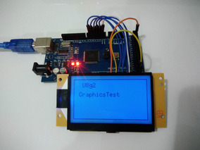 Display Gráfico Serial Arduino Lcd 128x64 C/ Backlight Azul
