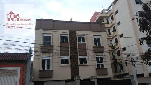 Apartamento Com 2 Dormitórios À Venda, 50 M² Por R$ 365.000,00 - Campestre - Santo André/sp - Ap2358