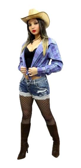 Camisa Camisete Feminina Xadrez - Temos Vestido Festa Junina