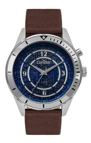 Relógio Condor Masculino Coy121e3ab/3a Pulseira De Couro