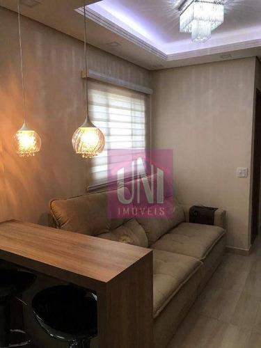Cobertura Com 2 Dormitórios À Venda, 80 M² Por R$ 299.000,00 - Vila Guaraciaba - Santo André/sp - Co0906