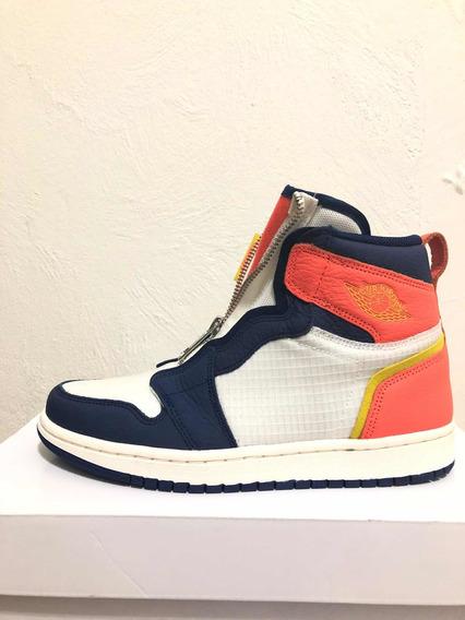 Jordan 1 High Zip Turf Naranja Talla 4mx