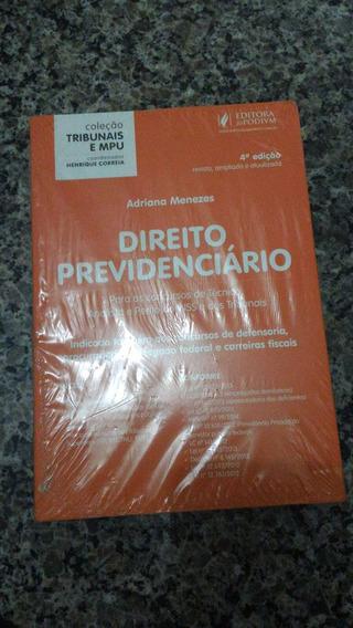 Livro Coleção Tribunais E Mpu - Direito Previdenciário