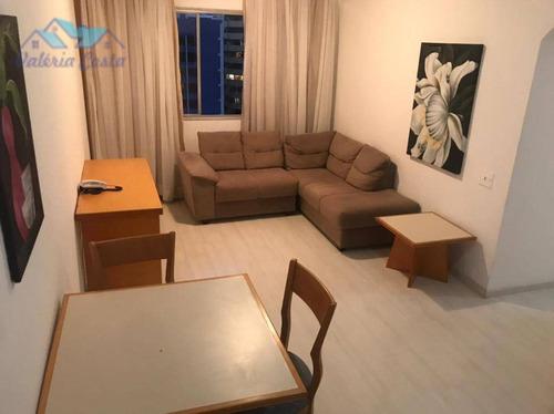 Imagem 1 de 13 de Apartamento Com 1 Dormitório Para Alugar, 45 M² Por R$ 2.200,00/mês - Moema - São Paulo/sp - Ap1438
