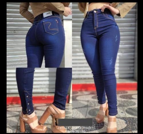 Imagen 1 de 2 de Jeans Femeninos Nuevos Por Pedidos Hermosos Talle: 36-46