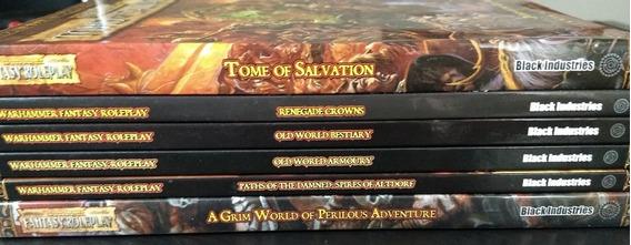 Rpg Coleção Warhammer Fantasy 2nd (raros)