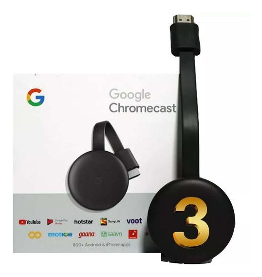 Google Chromecast 3 Hdmi 1080p Modelo Novo