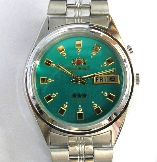 Relógio Orient Automático Aço Masculino Médio Fem6q00en9