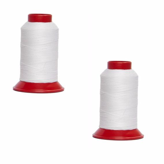 2 Linhas De Pipa 500 Jardas Cor Branca 100% Algodão Promoção