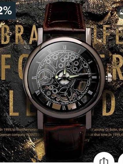 Relógio Masculino Com Caixa Aparente, Top De Linha.