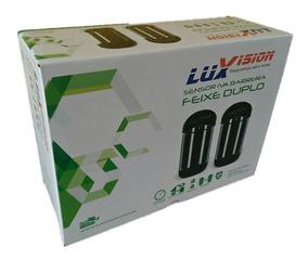 Sensor Barreira Infra Ativo Duplo Feixe 30 Metros Luxvision