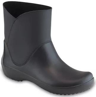Botas Crocs Mujer Rainfloe Bootie W Negro 38 Al 40 203417001