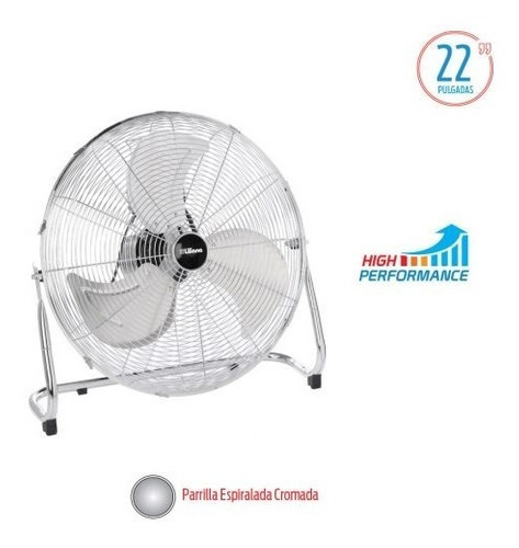 Ventilador Turbo Liliana 22 Vtfm22 Reclinable 3 Aspas Metal
