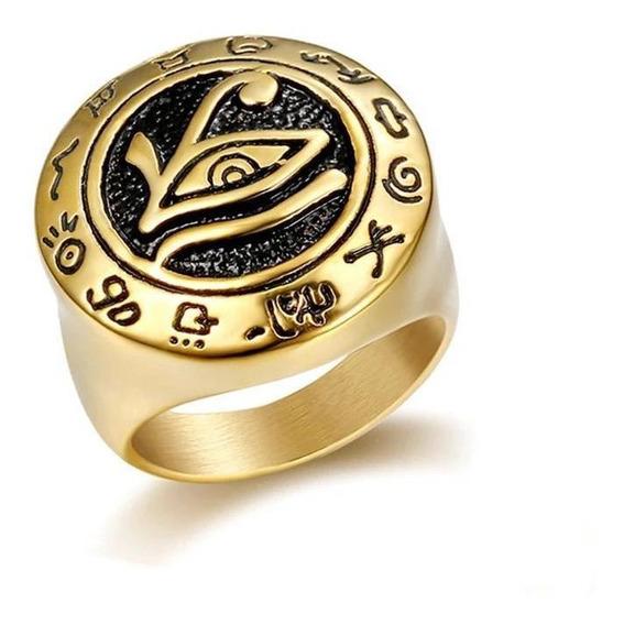 Anel Olho De Horus Egito Símbolo Do Zodíaco