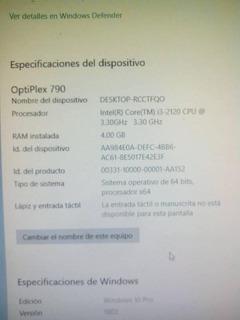 Computadora Dell Optiplex 790 I3 - 2120 3.30 Ghz