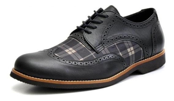 Sapato Social Tamanho Especial Inglês Oxford Chess 68142 Gs
