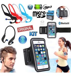 Fone Ouvido Sem Fio Sport Bluetooth Mp3 Cartão + Braçadeira