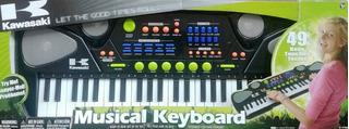 Piano Teclado Musical Kawasaki Organeta De 49 Teclas