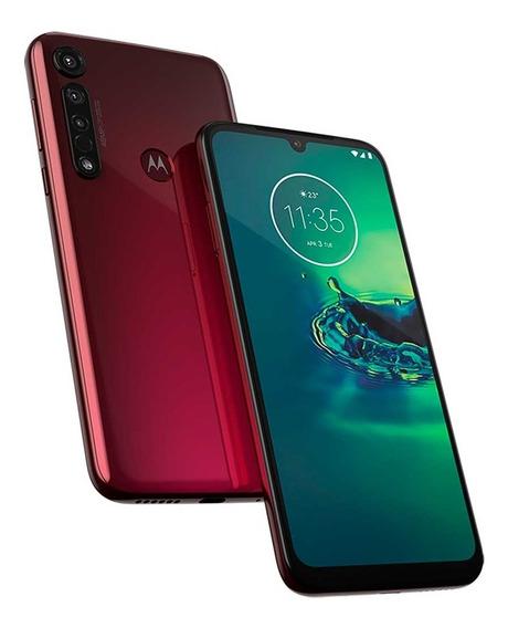 Smartphone Motorola G8 Plus 64gb Cereja 4gb Ram Câm. Tripla