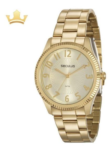 Relógio Seculus Feminino 20568lpsvds1 Com Nf