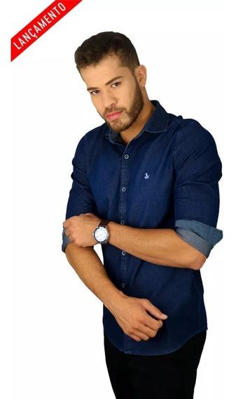 Camisa Amil Burgos Slim Jeans Com Elastano Luxo Lançamento