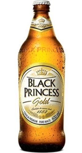 Kit Com 6 Unid Cerveja Black Princess 600ml Gold