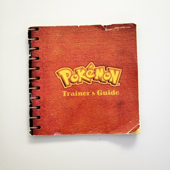 Manual Pokemon Trainers Guide Original Gameboy Game Boy