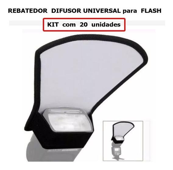 20 Peças Rebatedor Difusor Universal Para Flash