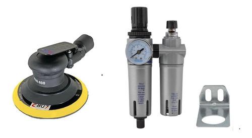 Imagem 1 de 1 de Lixadeira Roto Orbital Pneumática + Filtro-reg-lubrificador