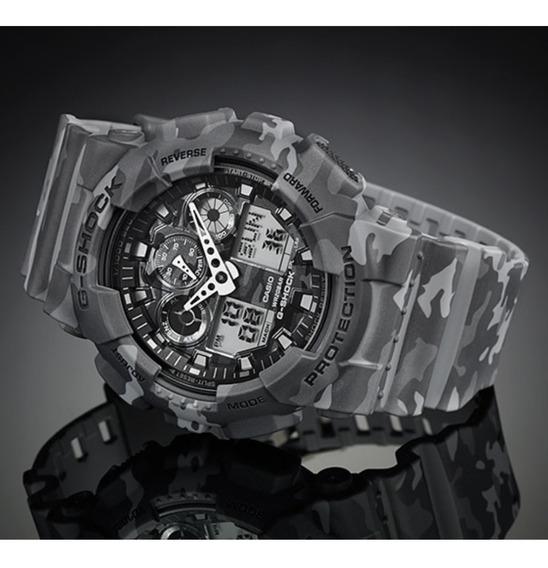 Relógio G Shock Masculino Camuflado Cinza Com Nota Fiscal