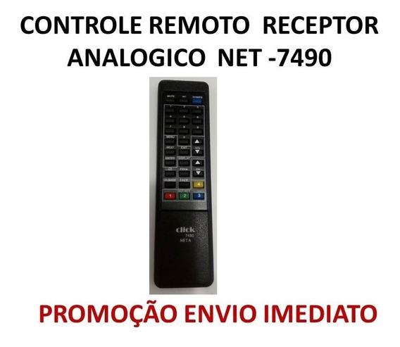 2x Controle Remoto Receptor Analogico Net -7490 Promoção