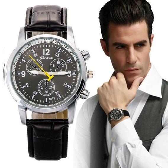 Relógio Masculino De Couro Luxo