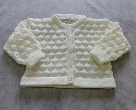 Casaquinho Lã Clássico Agasalho Bebê Menina Menino Ref. 117