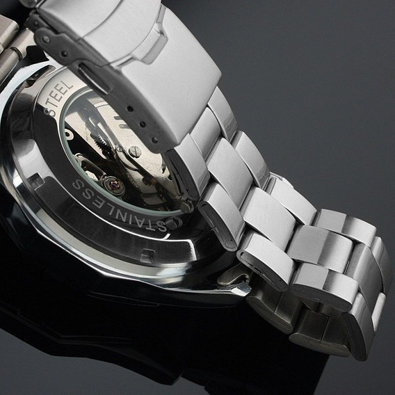 Relógio Importado Winner Skeleton Automático Promoção Barato