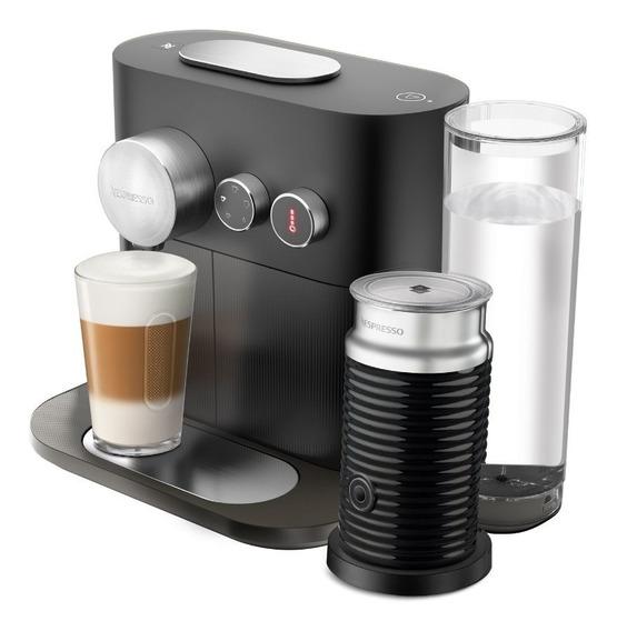 Cafetera Nespresso Bluetooth Expert Negra O Gris Capuchino Espumador Leche Eco Friendly