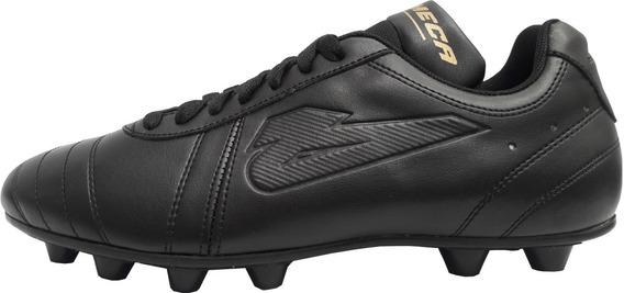 Zapatos Futbol Soccer Tierra Olmeca Retro Negro Mf