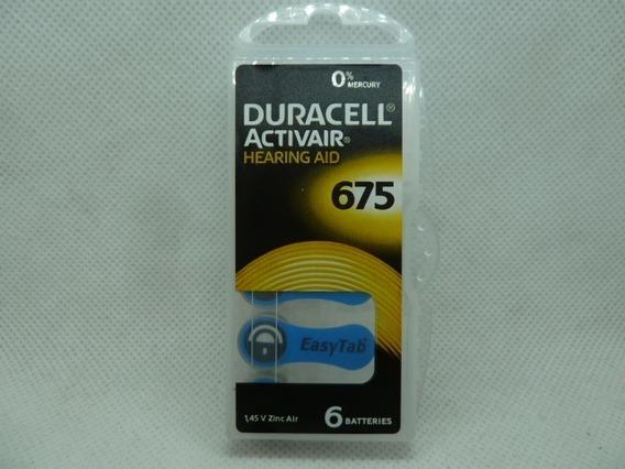 Pila Bateria Auditiva Duracell 675 Paq. De 6 Und De 1.45v