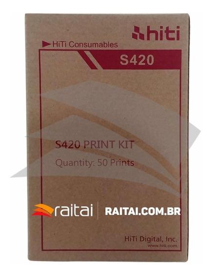 Papel Hiti Impressora S420/ 1 Kit Para ( 50 Fotos )
