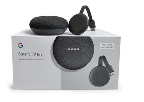 Kit Smart Tv: Google Home Mini (color Carbón) + Chromecast 3
