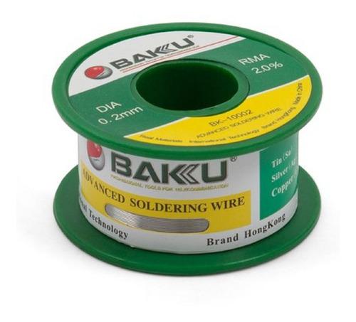Rollo De Soldadura De Estaño Baku 10005 0.5mm X 50gr