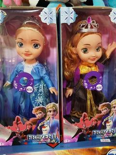 Muñeca Elsa O Anna Frozen C/sonido 30cm Buen Material