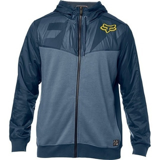 Campera Fox Liviana Axle Zip Fleece Azul Solomototeam