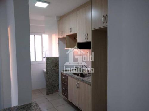 Apartamento Com 1 Dormitório Para Alugar, 46 M² Por R$ 1.150/mês - Jardim Nova Aliança - Ribeirão Preto/sp - Ap3864