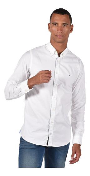 Camisa Tommy Hilfiger Para Hombre Color Blanco