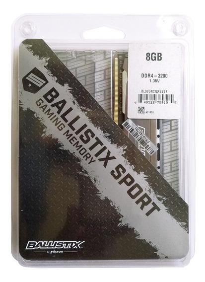 Memória Ram Ballistix Sport Ddr4 8gb 3200 Bls8g4d32aesbk