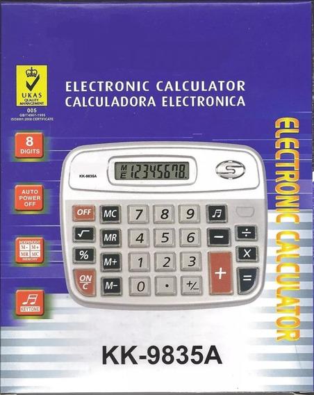 10 Calculadora Grande Eletrônica Kk-9835 C/8 Digitos