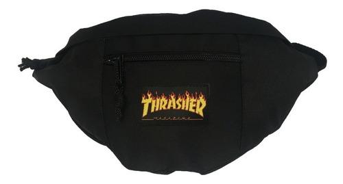 Thrasher Riñonera Lifestyle Hombre Bag Flame Negro Fuk