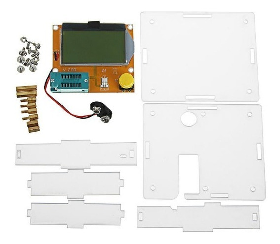 Testador De Componentes Eletrônicos Lcr-t4 + Case De Acrilico