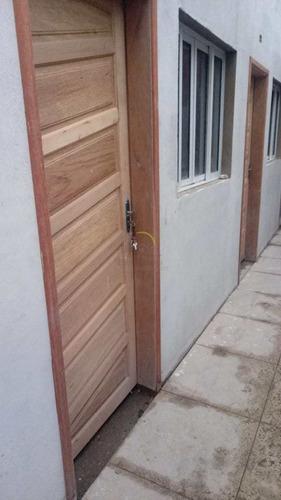 Casa De Condomínio Com 1 Dorm, Maracanã, Praia Grande - R$ 159 Mil, Cod: 2243 - V2243