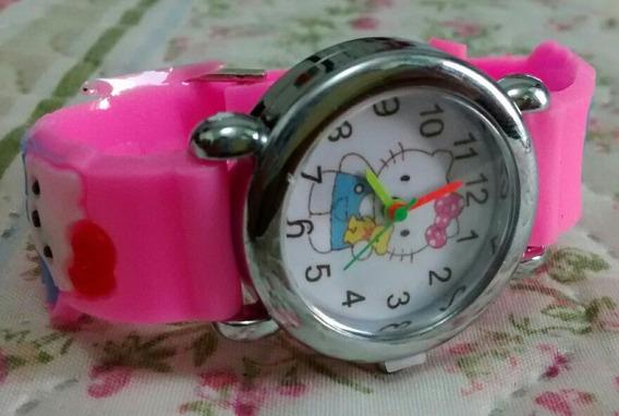 Relógio Infantil Hello Kitty Na Caixinha Barato